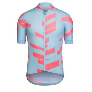 NEW Rapha Men's Cycling Jersey XXL Pro Team Aero DATA PRINT Light Blue Coral RCC