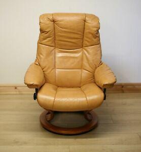 Ekornes Stressless Mayfair Tan Leather Armchair / Swivel Chair