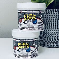 2 Flex Seal Paste WHITE Super Thick Rubber Paste 1 lb Jar