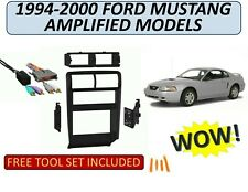 DOUBLE DIN Dash Kit for 1994-2000 FORD MUSTANG with AMPLIFIED Wiring Harness
