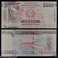 AFRICA GUINEA 5000 FRANCS Banknote 2015 UNC