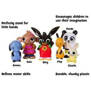 Bingo Friends 6 Figure Sula Panda Character Toys Kids Flop Charlie Lovely Gift☃