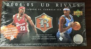 2004-05 UD RIVALS LEBRON JAMES VS CARMELO SET BASKETBALL NBA FACTORY SEALED BOX