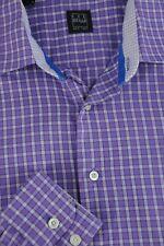 Ike Behar Boy's Purple & White Geometric Cotton Casual Shirt Size 18 M Medium