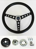1975-1977 Bronco 70-77 F100 F150 F250 F350 Black on Black steering wheel 14 1/2""