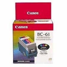 Canon BC-61 Color Inkjet Cartridge INK BJC-7000 New Genuine