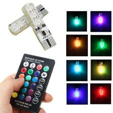 T10 LED Intelligente 16 colori, luce per auto lampadina + Telecomando