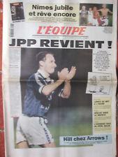 L'Equipe du 28-29/9/1996 - Jean Pierre Papin - Nîmes - Longo - D Hill - Bègles