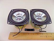 "Digital Audio Shielded HD 4"" 8 OHM Aluminum Ribbed SPEAKER WOOFER PAIR"