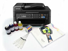 Heat Transfer Sublimation Printer Epson WF-2630WF + Refill Carts + Ink + Paper
