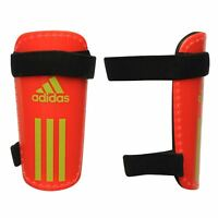 NEW ADIDAS FIELD LITE  SHIN GUARDS SIZE L RED / GREEN FOOTBALL SHINPADS R332-13