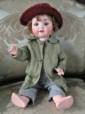 "Theodor Recknagel 121 Antique Bisque Head German Doll 16"""