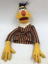 Muppet ~ Sesame Street ~ BERT Vinyl Cloth Hand Puppet Vintage 1970s