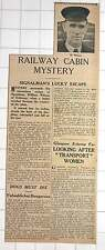 1942 Signalman William Wilson Of Dalmeny Lucky Escape