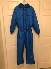Vintage 1960s 1970s women's SnoJet snowmobile suit blue Medium FREE FAST SHIP!