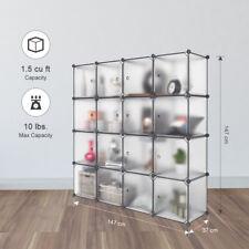 DIY Interlocking Plastic Wardrobe Storage Organizer Shelf Closet Cabinet Rack