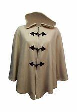 New Women Ladies Fleece Winter Hooded Cape Poncho Zip Toggle Plus Size 16-28