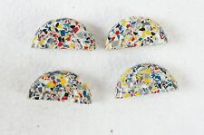 4 x Knöpfe Halbmond Knopf Multicolor Kunststoff  Möbel Möbelbau Beschlag M125
