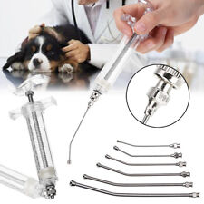 Us Veterinary Crop Feeding Set 6Pcs Curved Gavage Tubes & 20ml Syringe for Bird