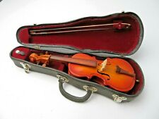 Vintage French Wood Decorative miniature violin & archer in box