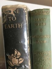 Mary Webb - Gone To Earth & Precious Bane Hardback Books