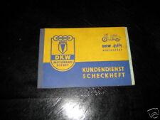 Scheckheft / Livre de Manuel de Service de DKW Hobby de 1956