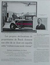PUBLICITE AUTOMOBILE BUICK AEROPORT LE BOURGET AVION AFTALION DE 1929 FRENCH AD