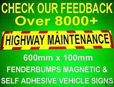 STICKER HIGHWAY MAINTENANCE CAR VAN SAFETY CHERRY PICKER PLANT BOX TRAILER SIGN