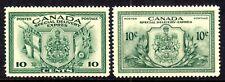CANADA SPECIAL DELIVERY #E10-E11 10c GREEN, 1942-46 SET/2, VF, MNH