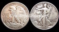 $1 Face Value ~ 90% Silver ~ Walking Liberty Half Dollars ~ 2 Coins