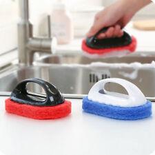 Sponge Brush Eraser Scrub Handle Grip Sink Pots Bowl Home Kitchen Cleaning Tools