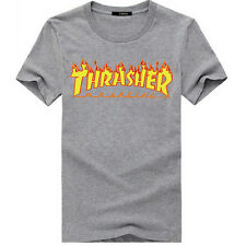 Thrasher T Shirt Flame Skateboard Magazine Men Women Kids Top Tee