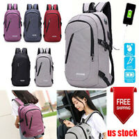 Anti-theft USB Charging Backpack Laptop Notebook Travel School Bag Men Women Bag