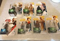 """STAR WARS 3.75"""" FORCE LINK 2.0 ACTION FIGURE MOC SEALED YELLOW LOT OF 7"""