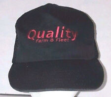 "USA Trucker Hat ""Quality Farm And Fleet"" Black Mesh Sides Adjustable Snapback H5"
