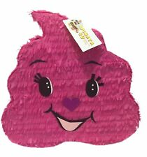 "Pink Poop Emoticon Pinata 19"" Tall"