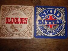 Beer mats coaster drip STUDLEY BREWERY STUD OLD GLORY Old Washford Mill Warwick