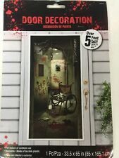 Asylum Creepy Door Decoration for Halloween, Reusable