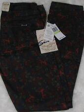 "Seven7 Size 4 Primrose Red Skinny Stretch Jeans Inseam 31"""