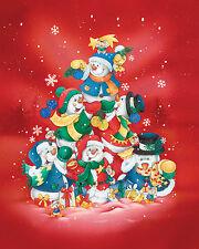 FAUX FUR MINK CHRISTMAS HOLIDAY SNOWMAN TREE SNOWFLAKE THROW BLANKET 48X60 SOFT