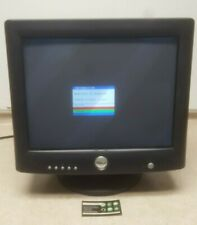 "Vintage Dell 17"" CRT Monitor VGA Gaming Navy Blue/Black Model: M782 TESTED!"