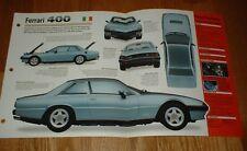★★1980 Ferrari 400i Originales Imp Folleto Especificaciones Información 80 76 77
