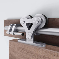 8 /6.6 FT Top Mount Stainless Steel Sliding Barn Door Hardware Track Kit