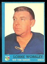 1962-63 TOPPS HOCKEY 45 LORNE WORSLEY NM NEW YORK N Y RANGERS MONTREAL CANADIENS