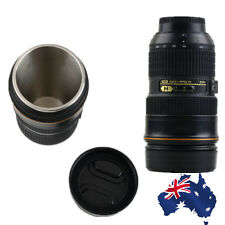 Focus Nikon Camera Lens Mug with Lid Photography Coffee Tea Cup Office Home AQ