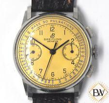 VINTAGE BREITLING GENEVE Chronograph Doctors  BASE 30 PULSATIONS Watch 6019 Box