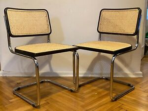 Original Vintage Cesca Mid Century Cantilever Chair / Marcel Breuer B32 Chair