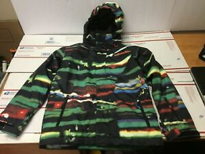 Quiksilver Boys Utility Collection Snowboard Jacket 8.000MM QuikTech Size 14