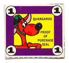 Quaker Oats Quangaroos Cereal Purchase Seal From Quangaroos Cereal Box - 1970s