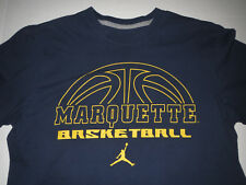 separation shoes ee919 f9eb5 Marquette Golden Eagles Warriors Jordan NCAA Basketball T-shirt Adult Medium